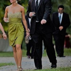 Badgley Mischka Strapless Formal Dress